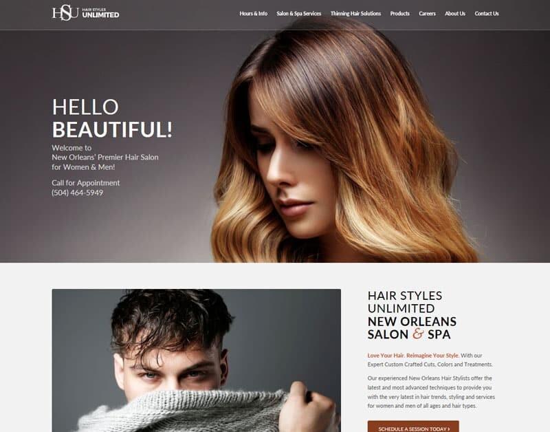 Hair replacement salon website design AHLC