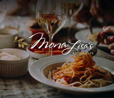 Mona Lisa's Italian Restaurant, ATS Web Design Syracuse New York